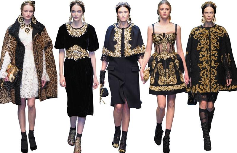 DOLCE GABBAN - Dolce & Gabbana Autumn / Winter Collection 2012
