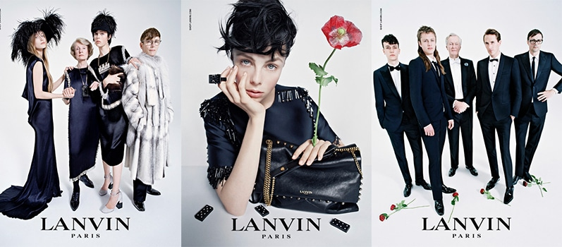 Edie Campbell & Co. für Lanvin Fall 2014