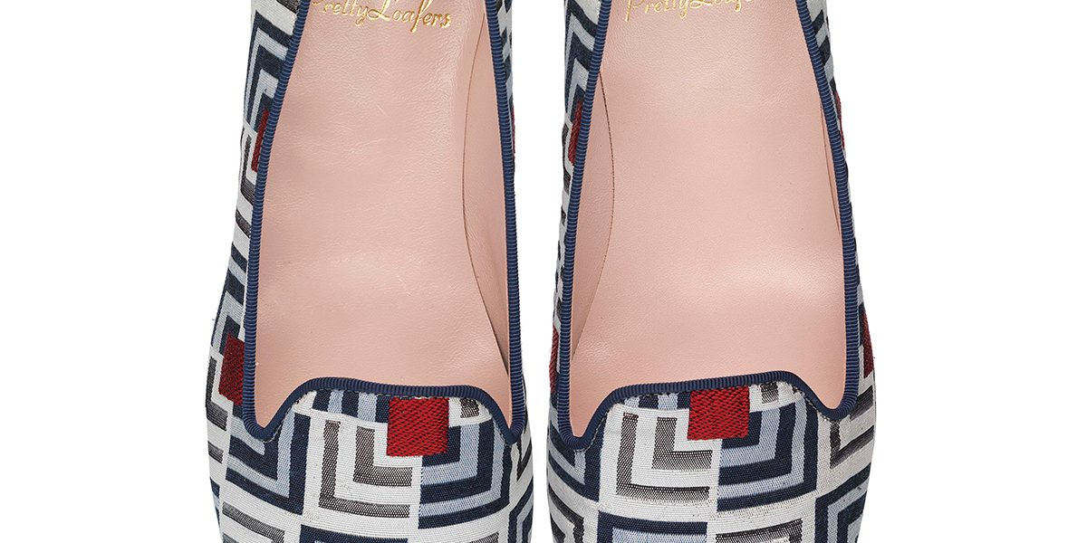Faye Deco Print Red and Blue Pair