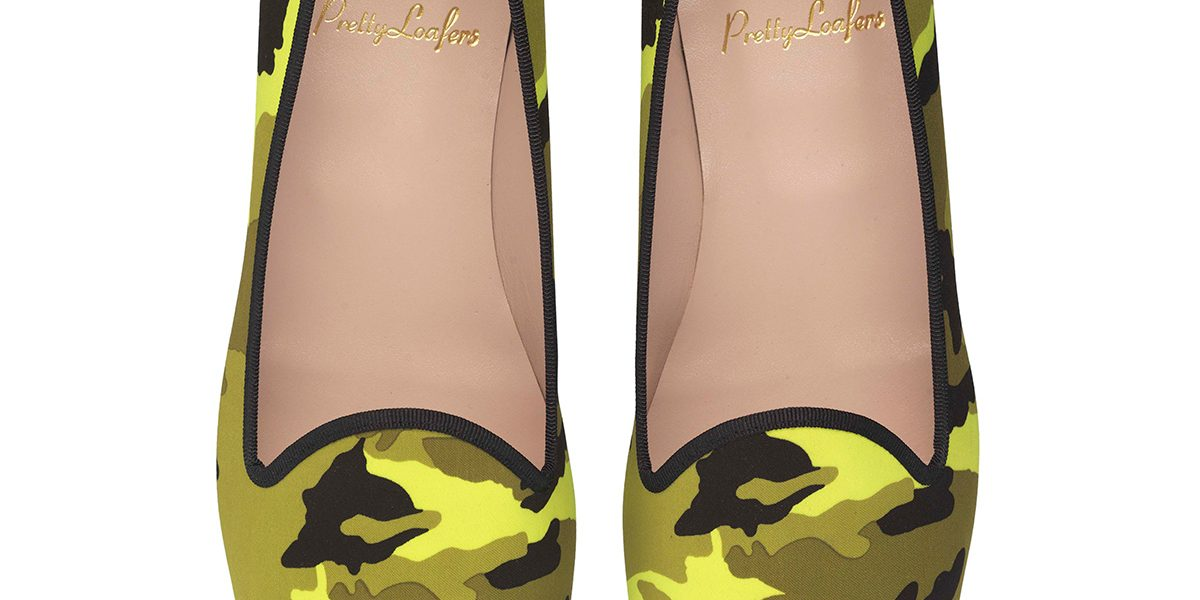 Faye Fluo Yellow Camouflage Pair