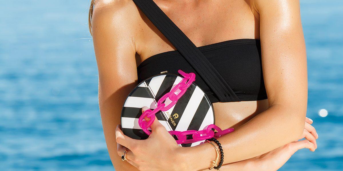 Eres Bikini from Exclusive Portals · Marco Bicego Earrings, Tamara Comolli Ring & Tamara Comolli Bracelet    from Nicolás Joyeros · Glasses & Tonda Bag from Aigner