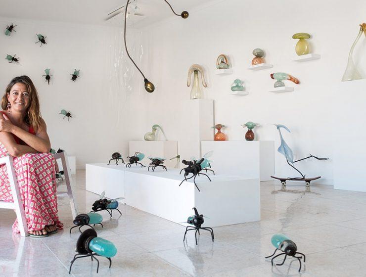hotglass studio 27 740x560 - Mallorcan glass artist Raquel Pou