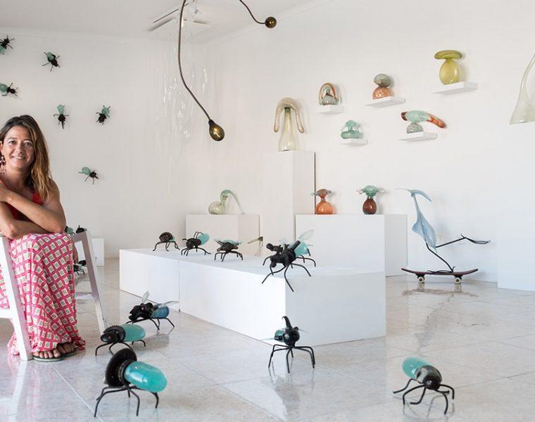 hotglass studio 27 760x600 - Mallorcan glass artist Raquel Pou