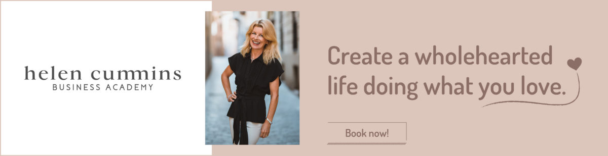 create a wholehearted life doing what you love